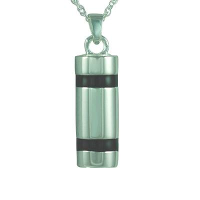Striped Cylinder Cremation Pendant